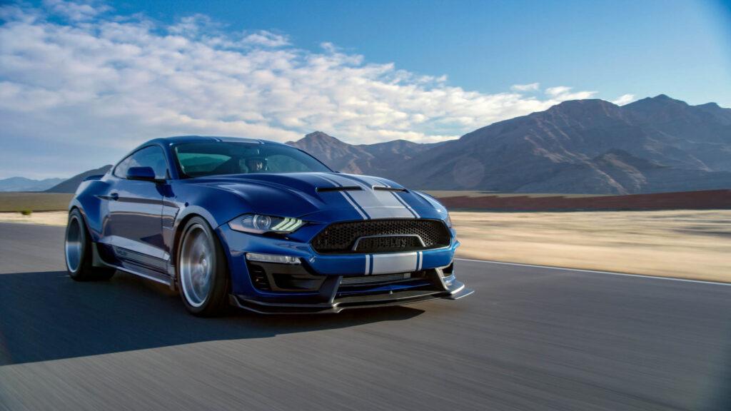 Shelby Super Snake Mustang Blu